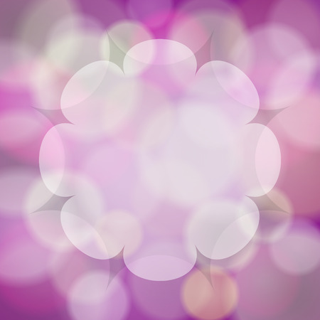 abstract pink bokeh background with place for your text Ilustração