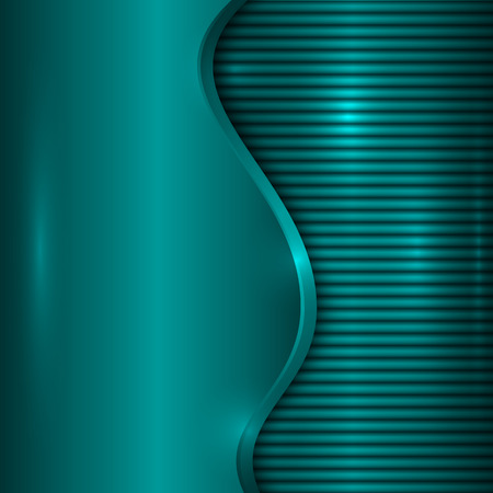 curve: abstract turquoise blue metallic background with curve and stripes Illustration