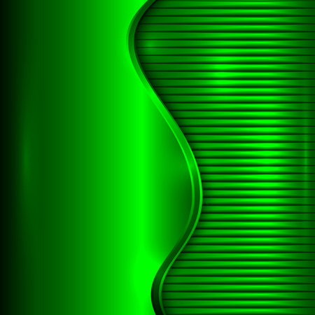 curve: abstract green metallic background with curve and stripes