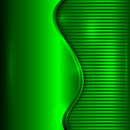 abstracte groene metallic achtergrond met curve en strepen