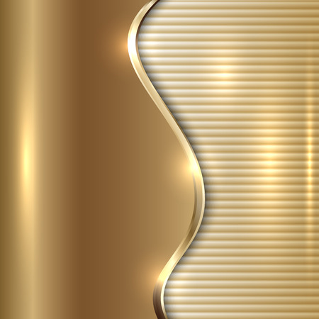 abstract beige metallic background with curve and stripes Illustration