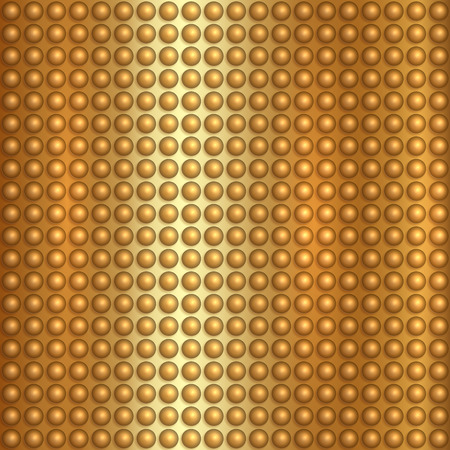 abstract gold textured background with spheres Illustration