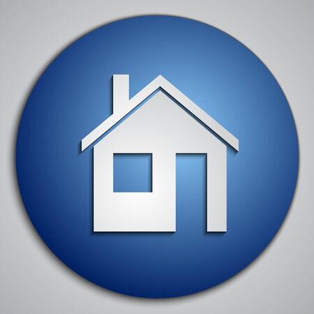 blue Home button Illustration