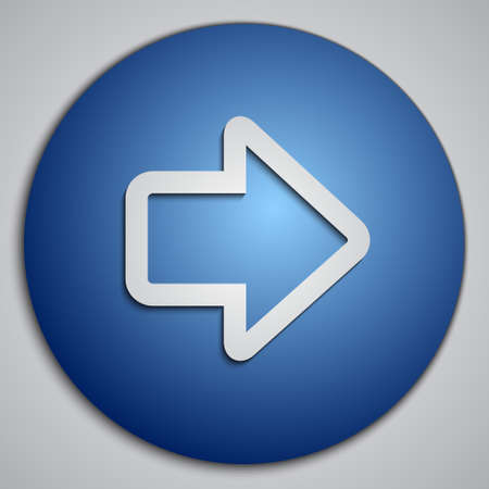 blue button: round blue right arrow button Illustration