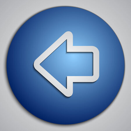 blue button: round blue left arrow button