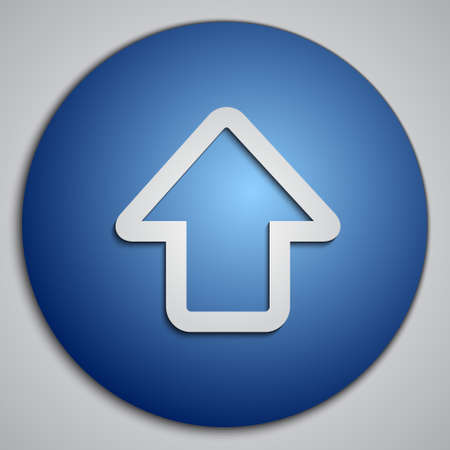 blue button: round blue up arrow button
