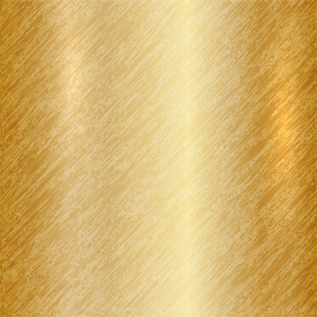 metallic: Vector abstract metallic gold background with scratches Illustration