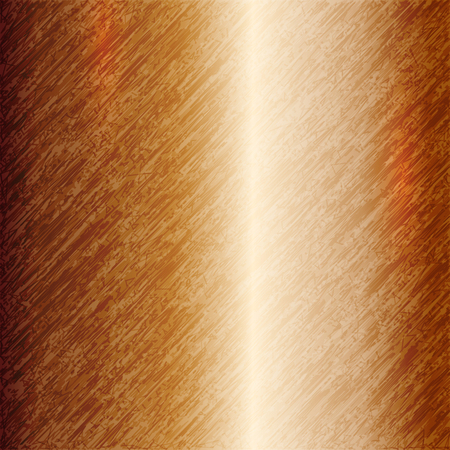 titanium: Vector abstract metallic copper background with scratches