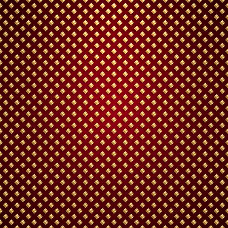 Vector gold lattice pattern on dark red background Ilustração