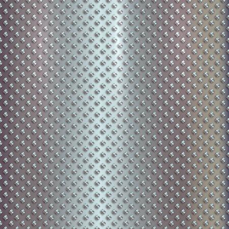 Vector silver grille pattern on metal steel background Illustration