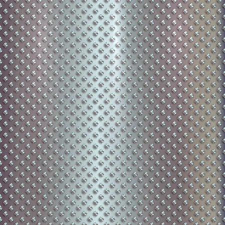 steel: Vector silver grille pattern on metal steel background Illustration