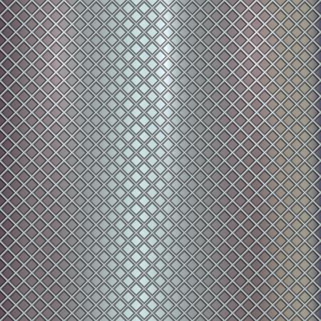 grille: Vector silver grille pattern on metal steel background Illustration