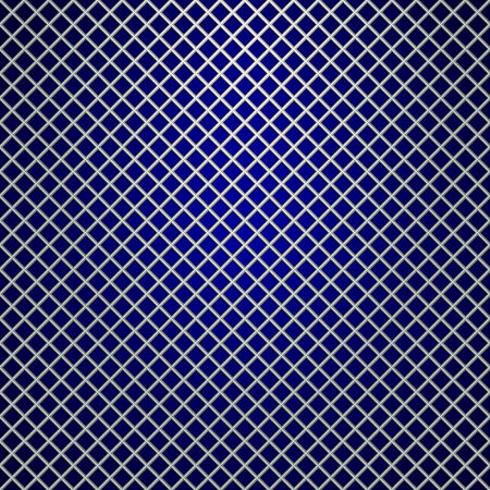 grille: Vector silver grille pattern on dark blue background