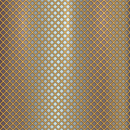 grille: Vector gold grille pattern on metal steel background