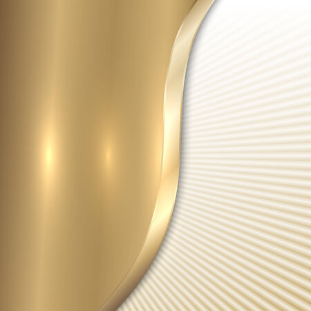 curve: Vector abstract metal beige background with curve and lines