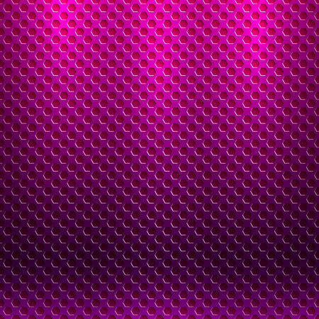 Vector abstract seamless metallic pattern with hexagon grille Vector