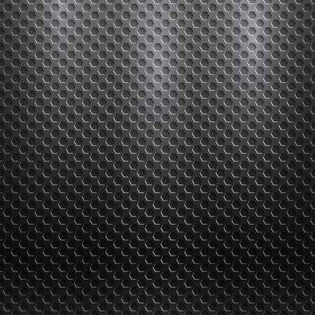 perforated: abstract seamless metallic pattern with hexagon grille Illustration