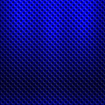 abstract seamless metallic pattern with hexagon grille Illustration