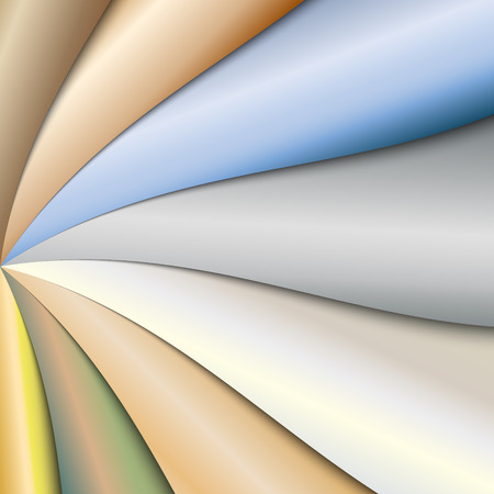 abstract colorful paper background with waves Vector