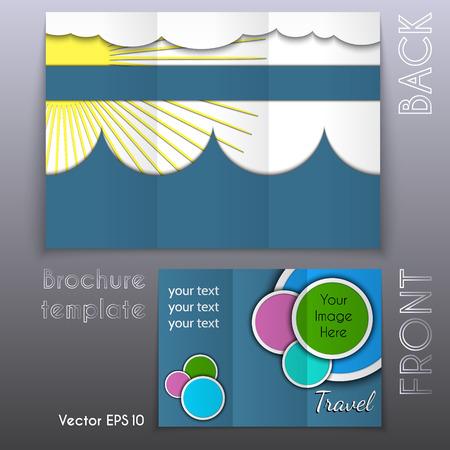 trifold business brochure template design