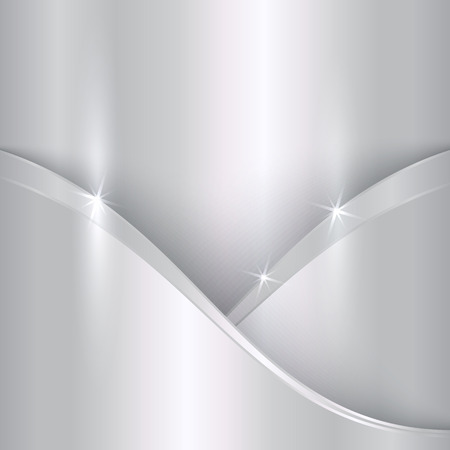 platinum: abstract precious metallic background with curves