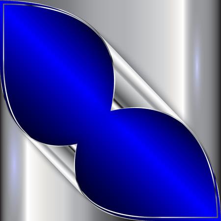 prata: Vector abstract blue and silver metallic background Ilustra��o