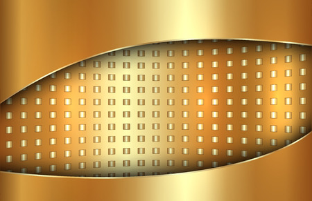 tabloid: Vector abstract golden background in tabloid format