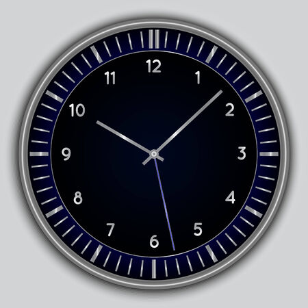Vector abstract simple round clock 向量圖像