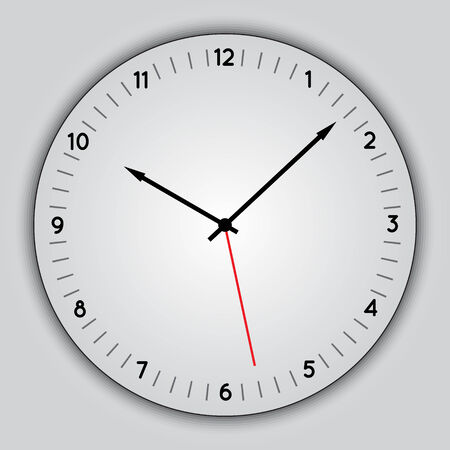 Vector abstract simple round clock Vettoriali