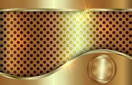 curve: Vector abstract golden background  with curve in tabloid format