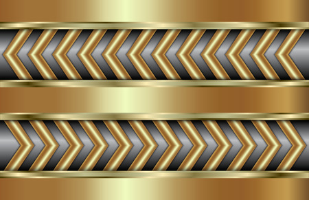 tabloid: Vector abstract golden background  with zigzag in tabloid format