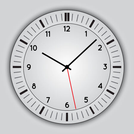 chronograph: Vector abstract simple round clock Illustration