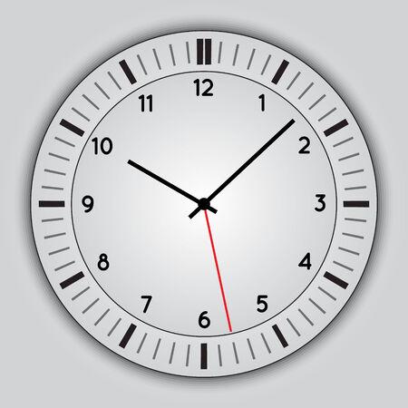 cronógrafo: Vector abstracto simple reloj redondo Vectores