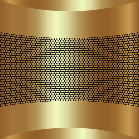 grille: Vector abstract golden background with grille