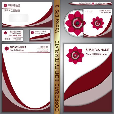 Vector corporate brand purple template Çizim