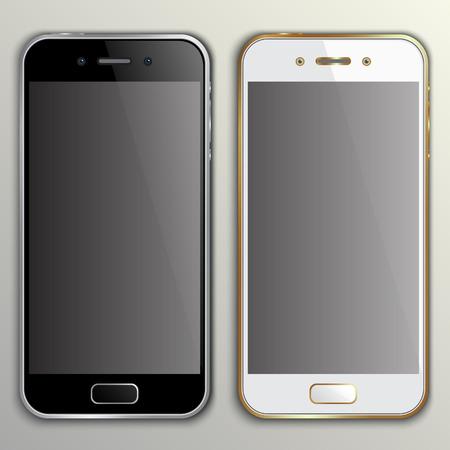 telefon: Ilustracja realistyczne telefonu makieta