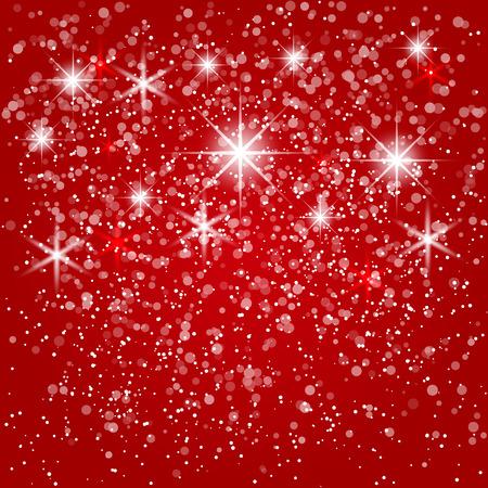 벡터 추상 빨간색 겨울 배경