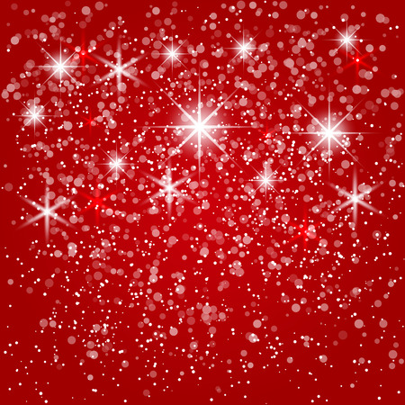 new year card: Vector abstract red winter  background