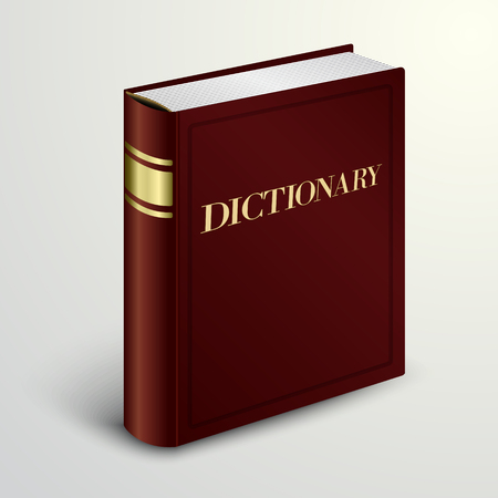 Vector red dictionary book
