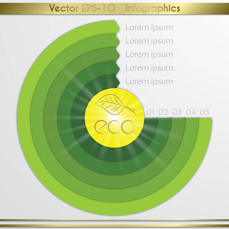 Modern vector circle diagram infographics elements. Vector