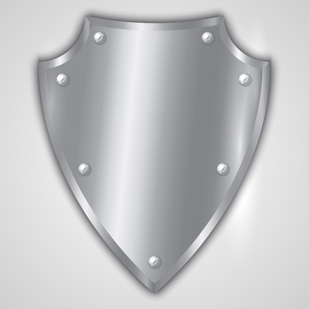 stainless: Vector abstract illustration of stainless steel shield
