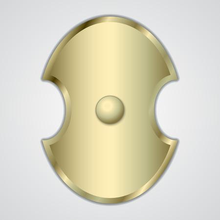 abstract illustration of gold Greek shield Illustration
