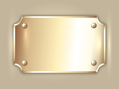 abstract precious metal golden award plate