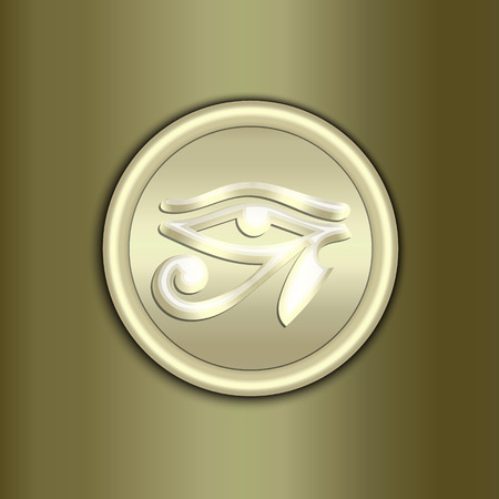 curve: Vector abstract golden amulet background with ornament and curve