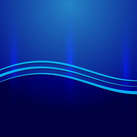 파도와 벡터 추상 파란색 금속 배경