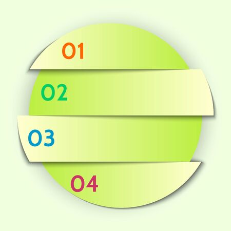 Vector abstract round list infographic element