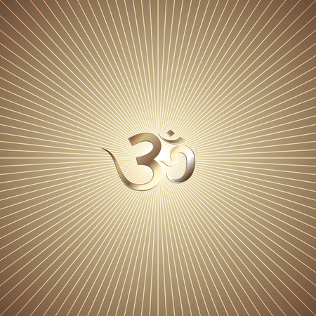om: Vector abstract golden background with rays