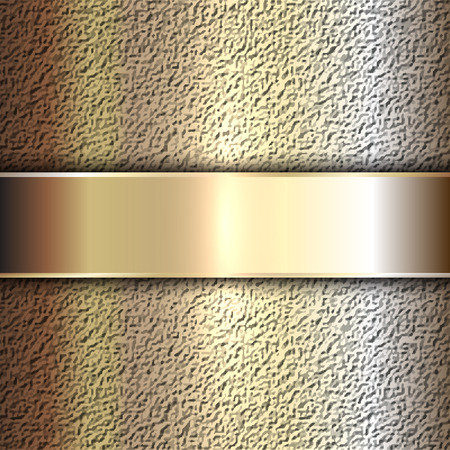 gold textured background: Vector precious metal golden plate on stone background