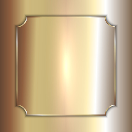 smooth background: Vector precious metal golden plate on smooth background Illustration