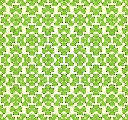 trefoil: Vector abstract seamless green  trefoil pattern
